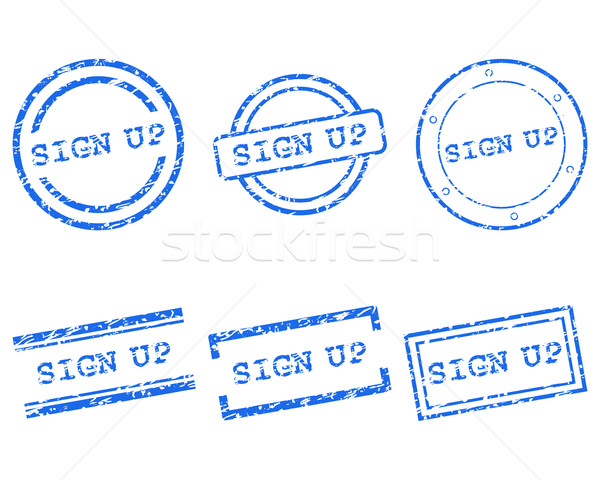 Sign up stamp Stock photo © rbiedermann