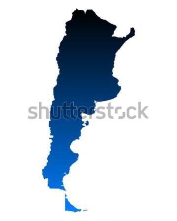 Térkép Argentína zöld kék utazás vektor Stock fotó © rbiedermann