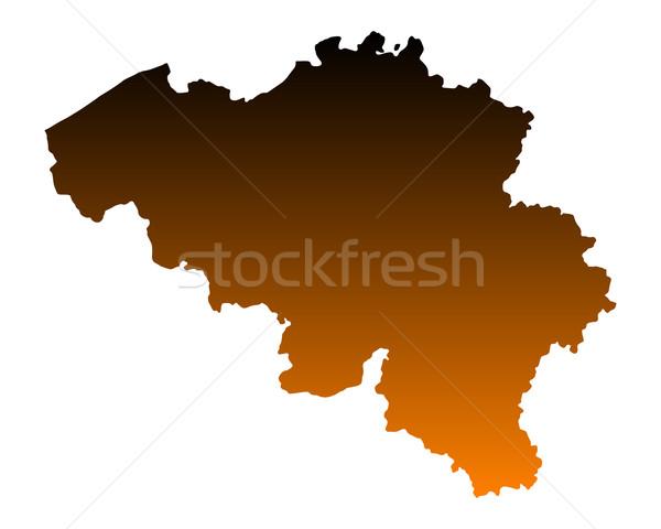 Mapa Bélgica vetor isolado ilustração Foto stock © rbiedermann