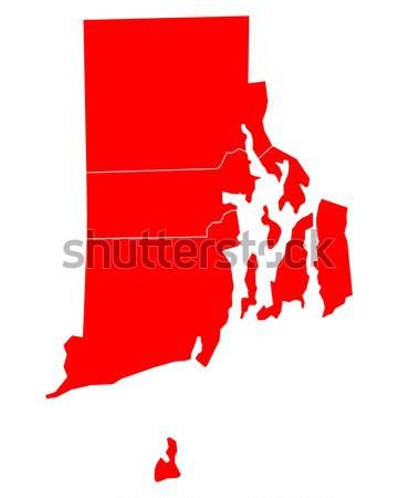 Carte Massachusetts Voyage rouge Amérique USA Photo stock © rbiedermann