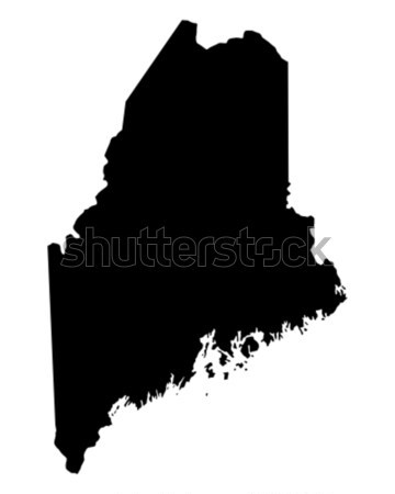 Kaart Maine reizen zwarte amerika USA Stockfoto © rbiedermann