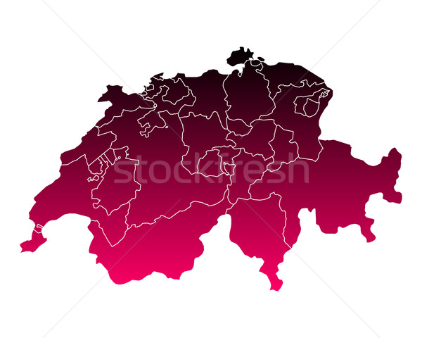 Harita İsviçre pembe mor vektör yalıtılmış Stok fotoğraf © rbiedermann