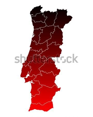 Kaart Portugal reizen roze paars geïsoleerd Stockfoto © rbiedermann