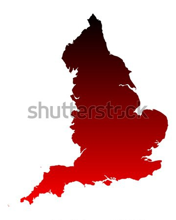 карта Англии розовый Purple вектора изолированный Сток-фото © rbiedermann