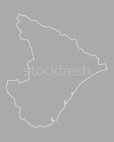 Harita vektör Brezilya yalıtılmış örnek gri Stok fotoğraf © rbiedermann