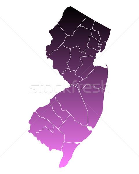 Harita yeni pembe Amerika Birleşik Devletleri vektör yalıtılmış Stok fotoğraf © rbiedermann