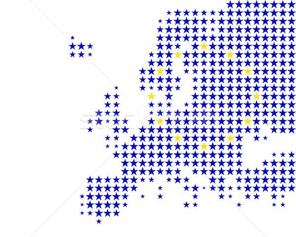 Mapa bandeira europa azul viajar estrela Foto stock © rbiedermann