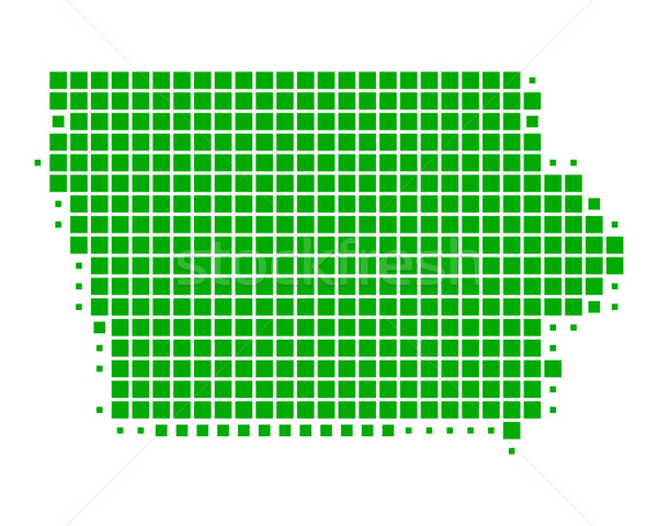 Stok fotoğraf: Harita · Iowa · yeşil · model · Amerika · kare
