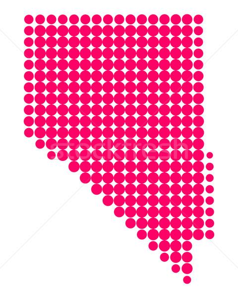 地図 ネバダ州 パターン アメリカ 紫色 サークル ストックフォト © rbiedermann