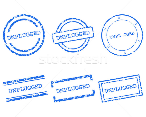 Unplugged stamps Stock photo © rbiedermann