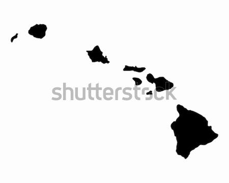 карта Гавайи черный Америки США вектора Сток-фото © rbiedermann