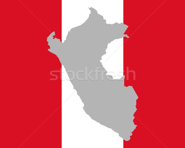 Térkép zászló Peru háttér utazás Stock fotó © rbiedermann
