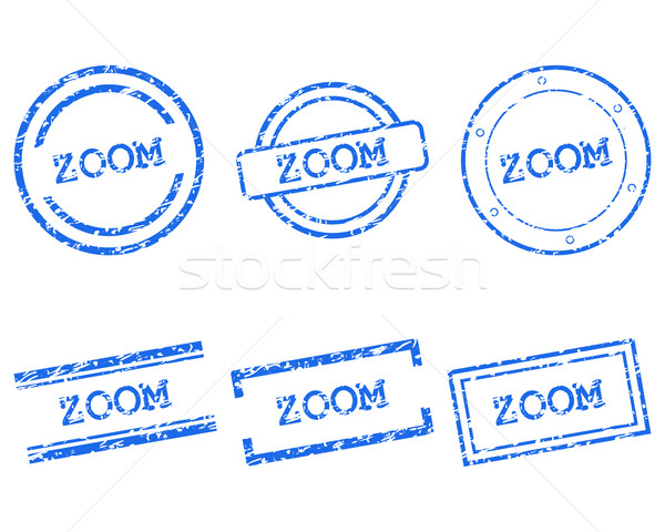 Zoom timbres tampon graphique tag sceau Photo stock © rbiedermann