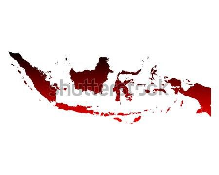Mapa Indonésia fundo linha roxo vetor Foto stock © rbiedermann