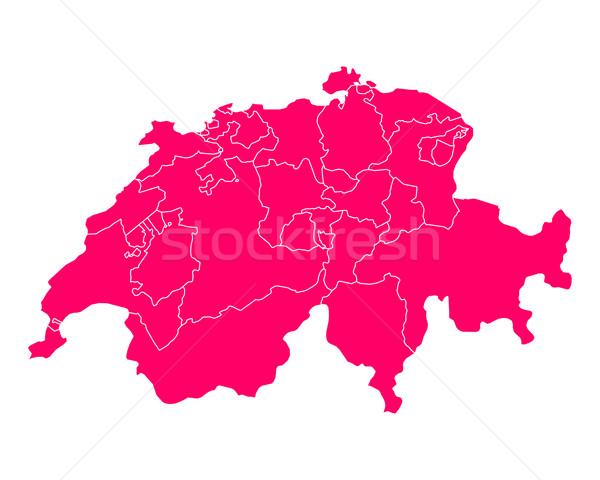 Mappa Svizzera sfondo rosa line viola Foto d'archivio © rbiedermann