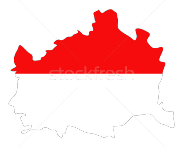 карта флаг Вена баннер вектора Австрия Сток-фото © rbiedermann