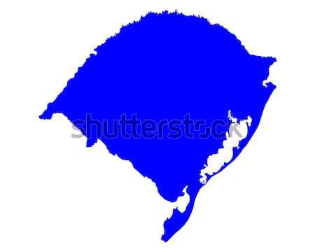 Harita rio arka plan mavi hat vektör Stok fotoğraf © rbiedermann