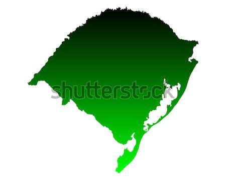 Harita rio arka plan yeşil hat vektör Stok fotoğraf © rbiedermann