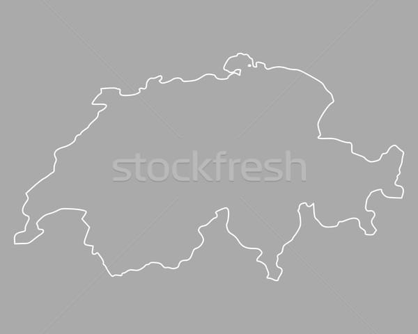 Kaart Zwitserland achtergrond geïsoleerd illustratie Stockfoto © rbiedermann