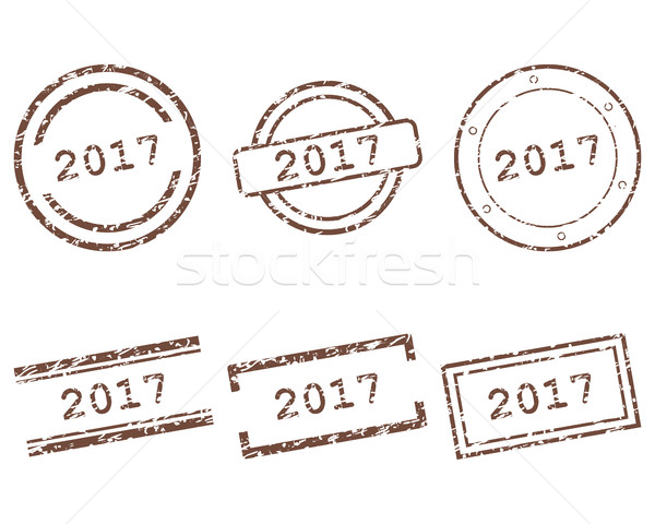 2017 stamps Stock photo © rbiedermann