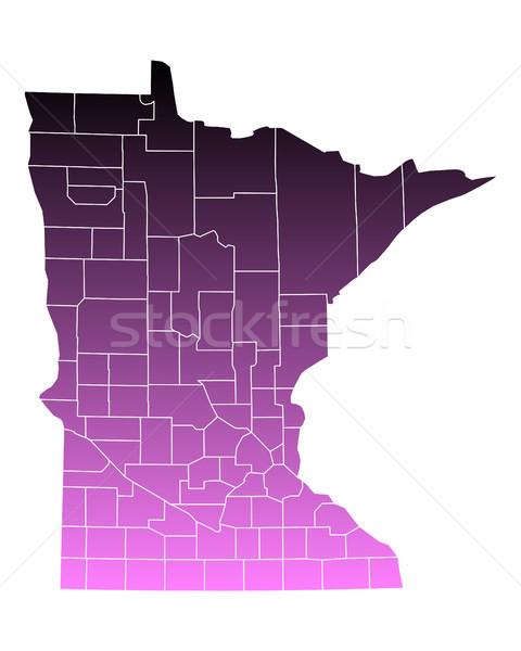 карта розовый США вектора изолированный иллюстрация Сток-фото © rbiedermann