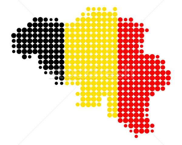 Mapa bandera Bélgica mundo mar viaje Foto stock © rbiedermann