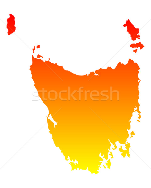Carte tasmanie vecteur Australie isolé illustration Photo stock © rbiedermann