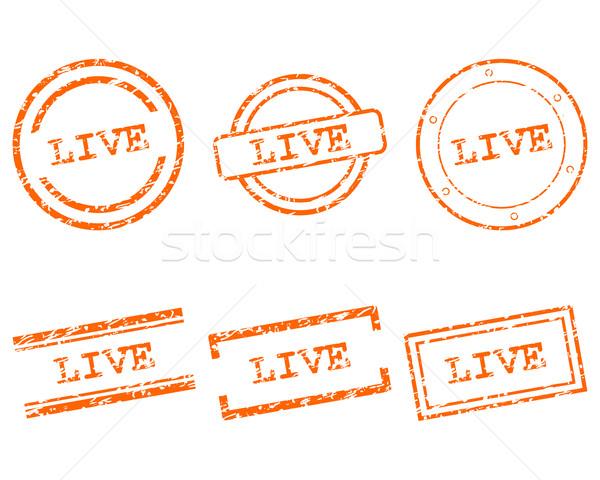 Vivre timbres affaires tampon graphique vente Photo stock © rbiedermann