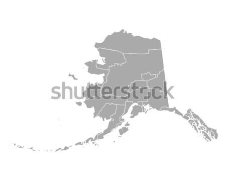 Mapa Alasca fundo linha EUA vetor Foto stock © rbiedermann