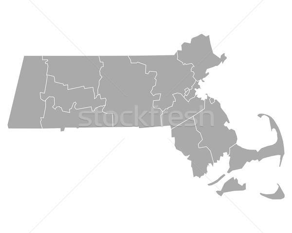 Map of Massachusetts Stock photo © rbiedermann