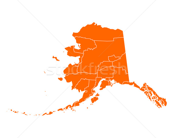 Mapa Alasca viajar EUA isolado ilustração Foto stock © rbiedermann