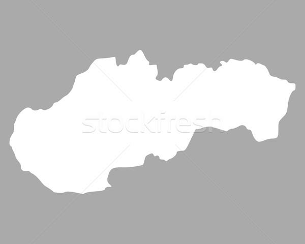 Mapa Eslováquia fundo isolado ilustração Foto stock © rbiedermann