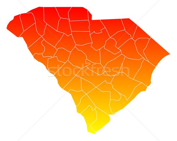 Harita güney Amerika Birleşik Devletleri vektör yalıtılmış örnek Stok fotoğraf © rbiedermann