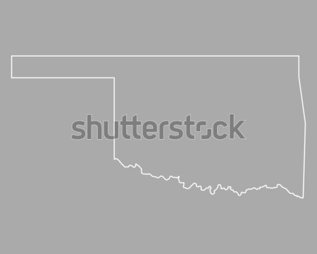Harita Oklahoma arka plan hat ABD Stok fotoğraf © rbiedermann