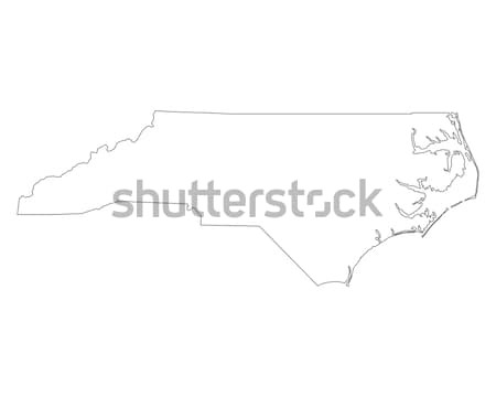 Map of North Carolina Stock photo © rbiedermann