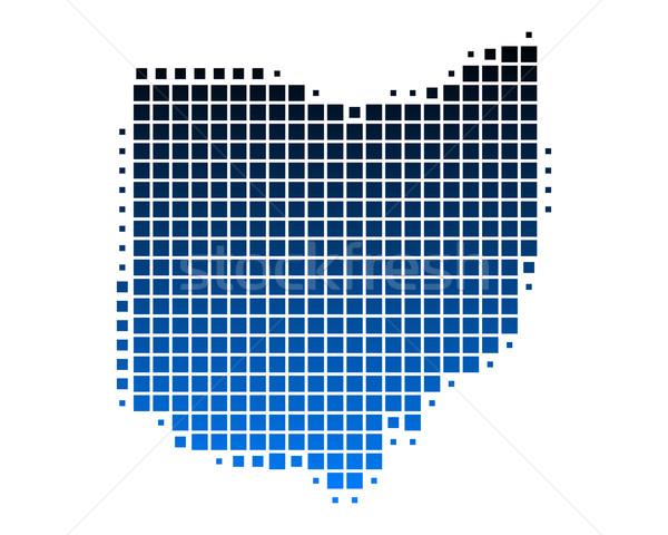地図 オハイオ州 青 パターン アメリカ 広場 ストックフォト © rbiedermann