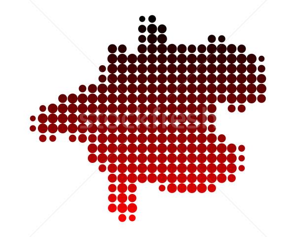 Harita Avusturya kırmızı model daire nokta Stok fotoğraf © rbiedermann