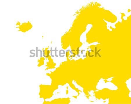 Részletes térkép Európa pontos illusztráció Stock fotó © rbiedermann