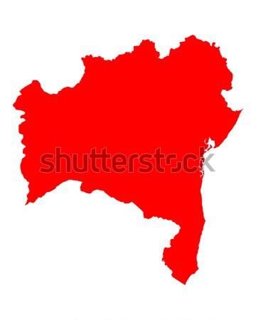 Stok fotoğraf: Harita · kırmızı · ada · vektör · yalıtılmış · örnek