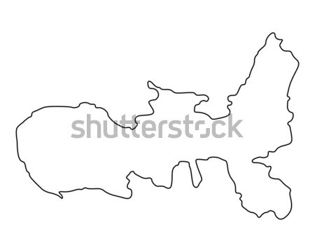 Map of Austria with flag of Vienna Stock photo © rbiedermann