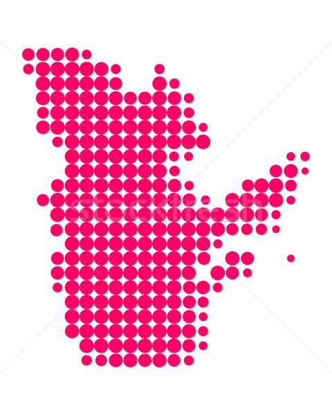 Térkép Quebec minta lila kör pont Stock fotó © rbiedermann