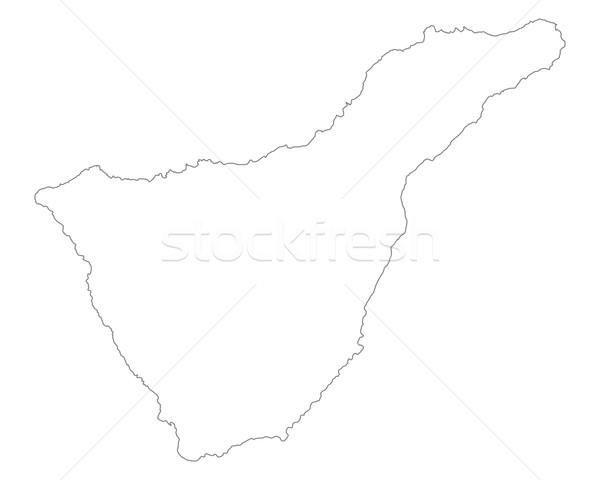 Mapa tenerife Espanha isolado ilustração cinza Foto stock © rbiedermann