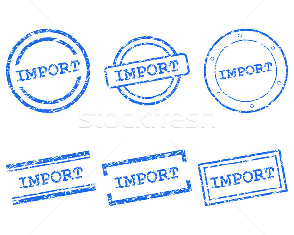 Import stamps Stock photo © rbiedermann