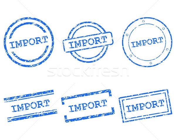 импортный марок штампа графических тег печать Сток-фото © rbiedermann