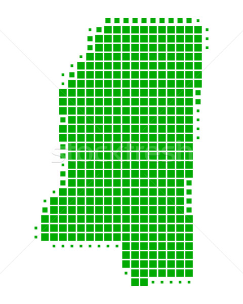 Harita Mississipi yeşil model Amerika kare Stok fotoğraf © rbiedermann