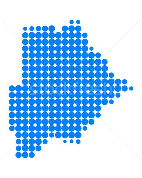 Térkép Botswana minta kör pont vektor Stock fotó © rbiedermann