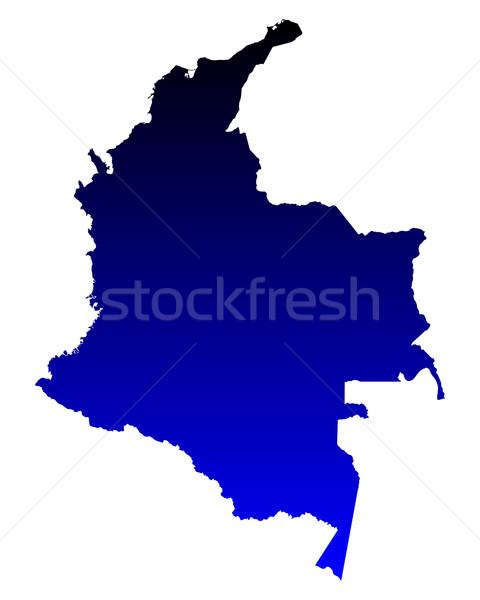 Térkép Colombia háttér vonal vektor Stock fotó © rbiedermann