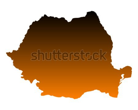 Kaart Senegal achtergrond lijn vector Stockfoto © rbiedermann