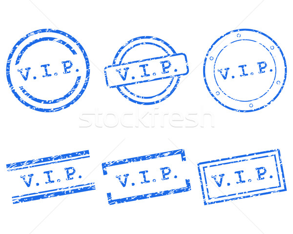 Vip postzegels business stempel grafische verkoop Stockfoto © rbiedermann