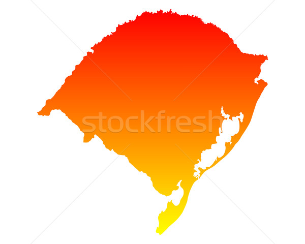 Térkép Rio háttér vonal vektor Stock fotó © rbiedermann